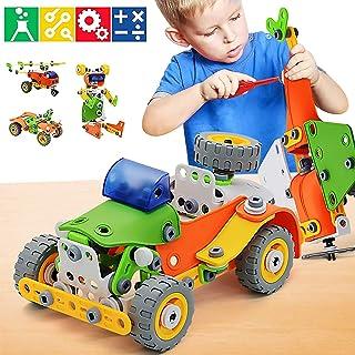 KIDSAVIA - STEM Learning Toys 5 in 1 Erector Set DIY Educational Construction Engineering Building Blocks Toys Kits for Ki...