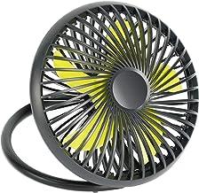 BEYOND BREEZE USB Desk Fan, Portable Quiet 2 Speeds Wind Desktop Personal Fan, Small but Powerful, Dual 180° Adjustment Mini Fan for Better Cooling, Office, Home, Dorm, 7 Inch
