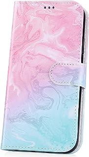 för Huawei P30 Lite fodral, JAWSEU plånboksfodral kompatibel med Huawei P30 Lite fullt skydd PU-läder flip folio kortfodra...