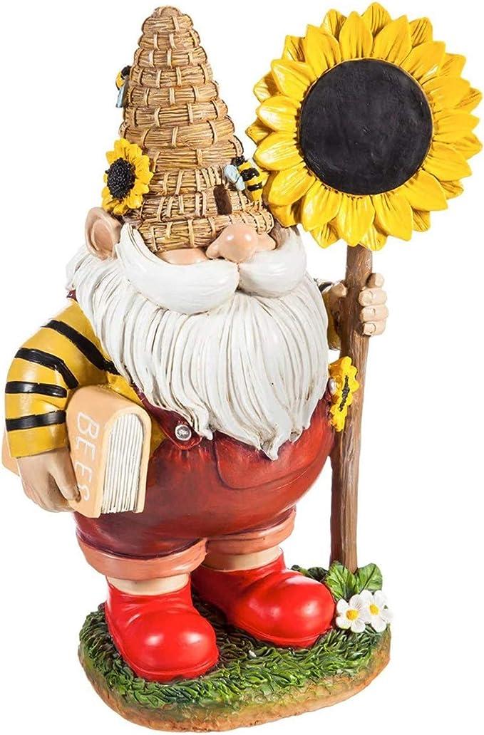 Amazon.com: Garden Gnome Statue - Resin Gnome Figurine,Outdoor Interesting Decorations for Patio Yard Lawn Porch, Ornament Gift : Patio, Lawn & Garden