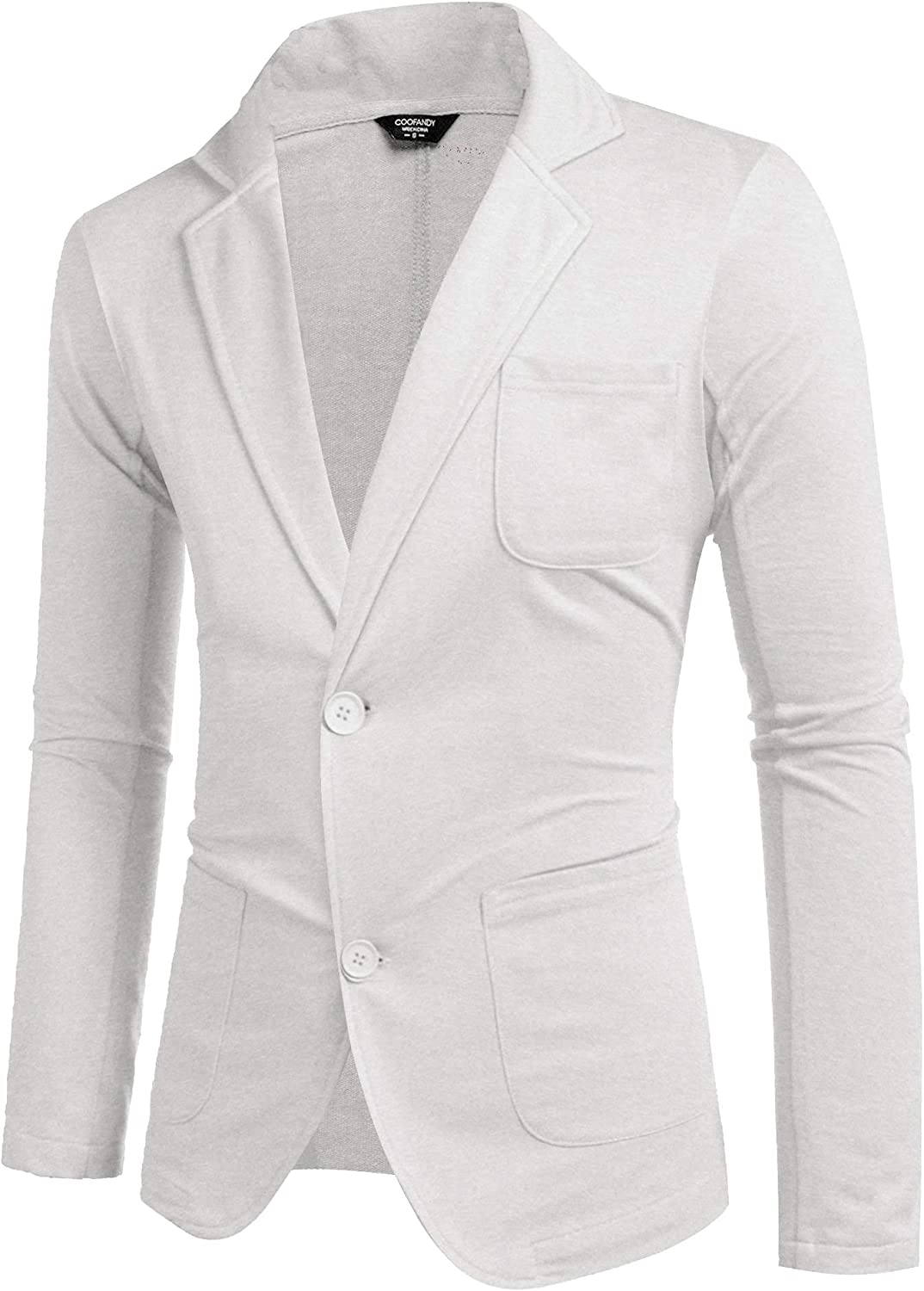 COOFANDY Mens Max 88% OFF NEW Cotton Casual Two Light Lapel Jacket Blazer Button