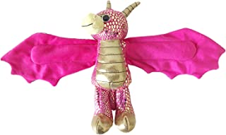 Wild Republic Huggers, Golden Dragon Plush Toy, Slap Bracelet, Stuffed Animal, Kids Toys, 8 inches
