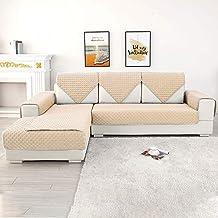 Funda de sofá Relax Love de poliéster en trozos pequeños, compuesta para diferentes sofás (forma de L y U o sofá modular)., poliéster, beige, 1 Stück-90cmx210cm