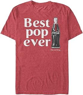 Men's Best Pop Coke Bottle Logo T-Shirt, red Heather, 3X-Large