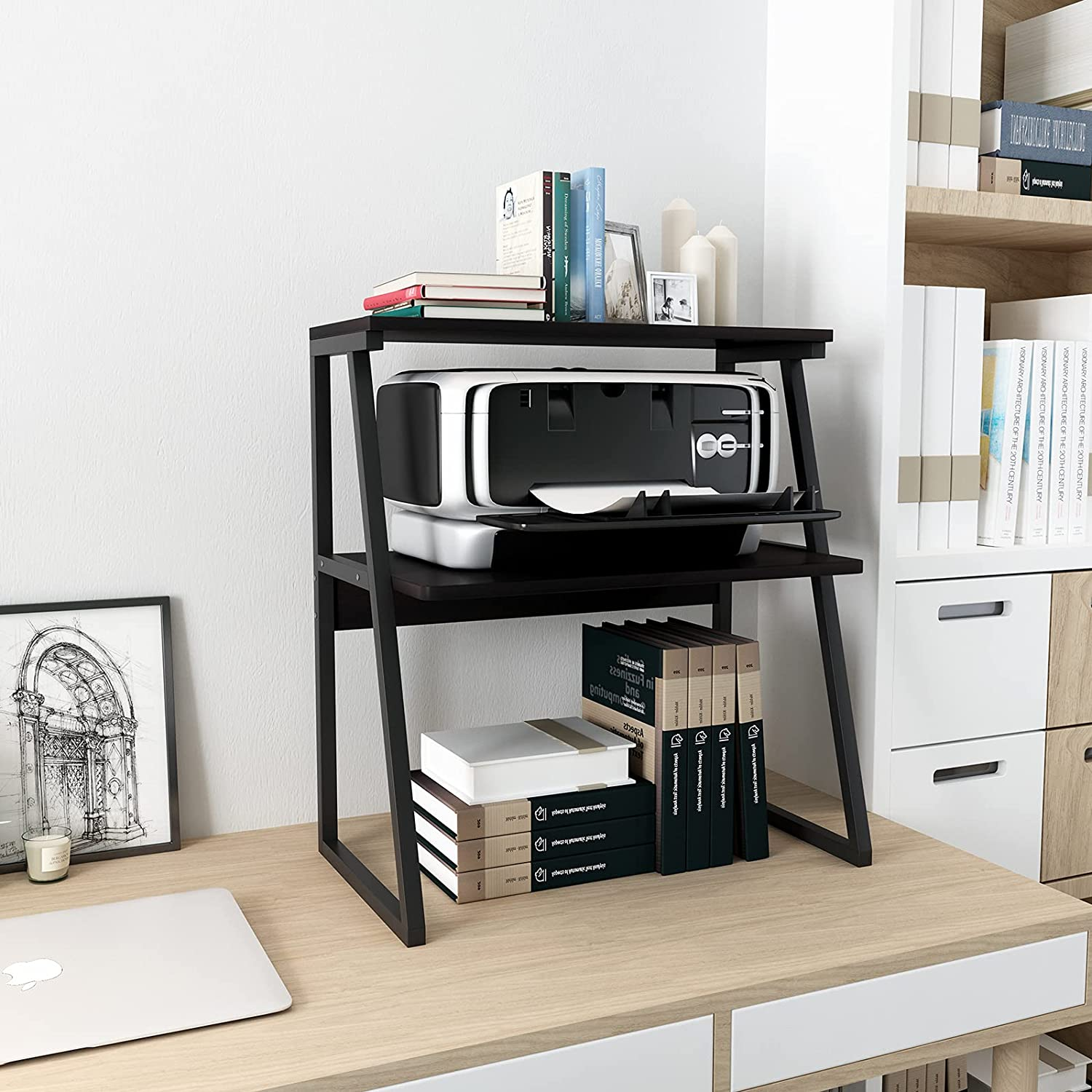 Complete Free Shipping PUNCIA Desktop Printer Stand 3-Tier High Sto Large Capacity Size Baltimore Mall