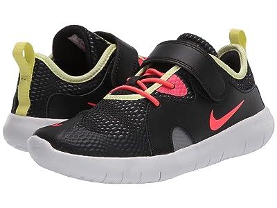 Nike Kids Flex Contact 3 (Little Kid) (Black/Laser Crimson/Smoke Grey/Limelight) Kids Shoes