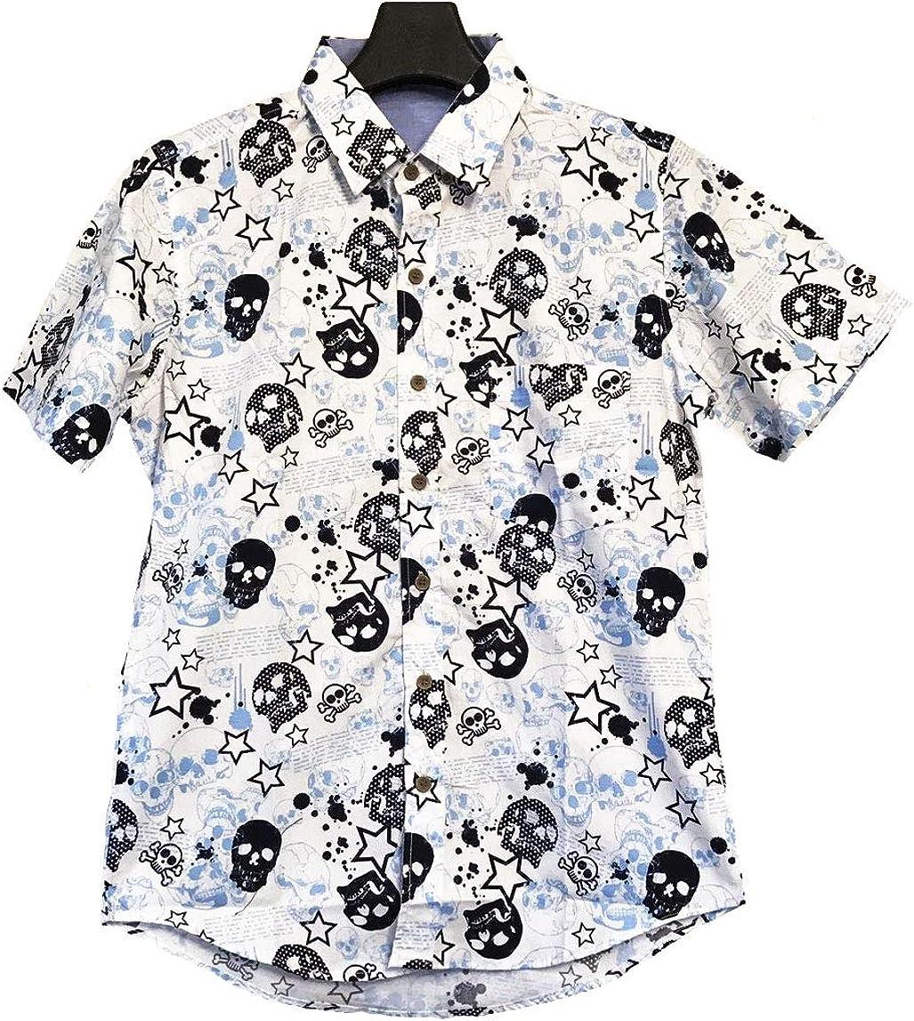 Camisa Hawaiana - Manga Corta - Estampado Calavera ...