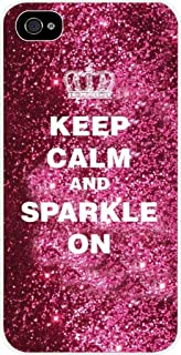keep calm and sparkle on phone case