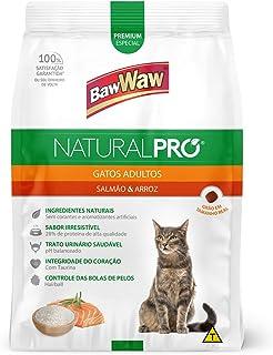 Ração Baw Waw Natural Pro para gatos adultos sabor Salmão e Arroz - 1kg