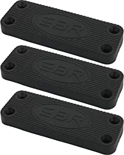 Be Ready Military Grade Gun Magnet True 35 lbs Rated, Rubber Coated Concealed Magnetic Gun Mount For Handgun, Shotgun, Rifle in Car, Truck, Safe. UnderDesk, Bedside, Car Truck concealed mount (3 pack)