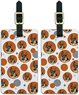 Graphics & More Luggage Suitcase Carry-on Id Tags-German Shepherd-Orange, White