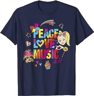 JoJo Siwa Peace Love Music Rainbow Sticker Graphic T-Shirt