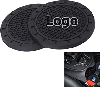AOOOOP Car Interior Accessories for Ford Cup Holder Insert Coaster - Silicone Anti Slip Cup Mat for Ford Focus Fusion Mustang Explorer Ecosport Escape F-150 (Set of 2, 2.75