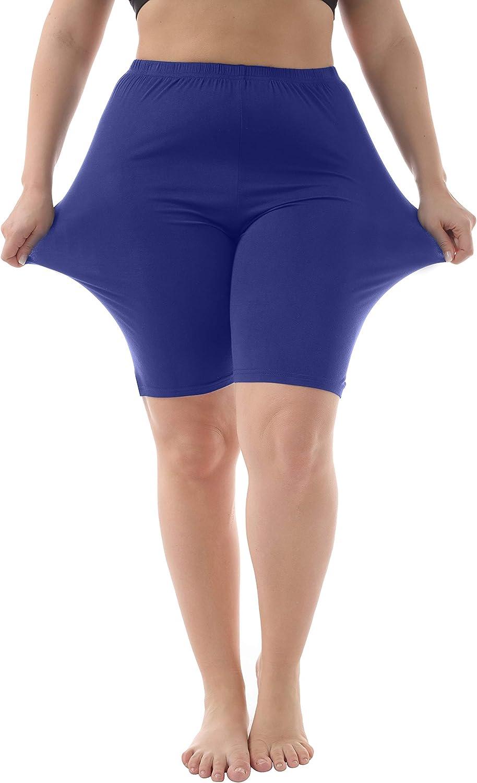 ZERDOCEAN Women's Modal Plus Size Mid Thigh Shorts