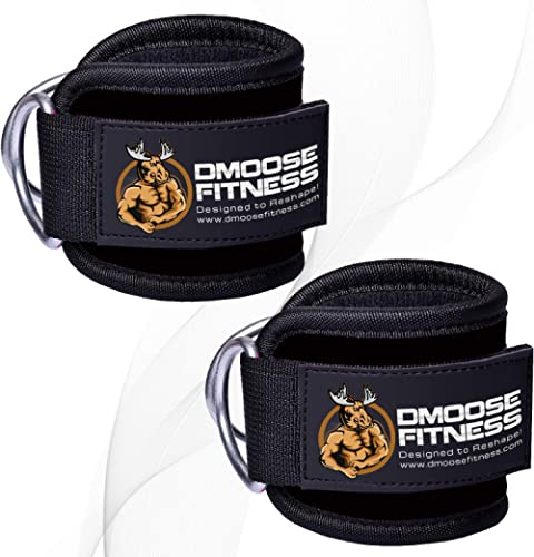 DMoose Fitness Ankle Strap for Cable Machines for Kickbacks, Glute Workouts, Leg Extensions, Curls, and Hip Abductors...