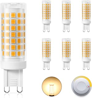 DiCUNO G9 Dimmable LED Bulbs 4W (40W Halogen Equivalent), Warm White 3000K, 430LM, AC/DC 220V, Energy Saving Ceramic Base ...