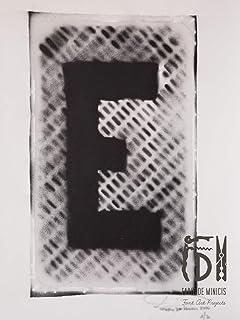 Letra E ABC Hort por Fabio De Minicis - Lienzo original 1/7-50 x 70 cm.