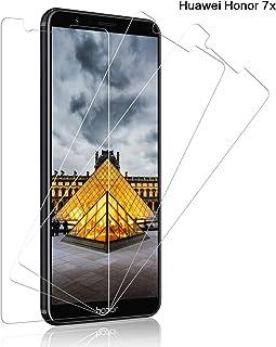 SNUNGPHIR® Cristal Templado Huawei Honor 7X, [3-Pack] Protector Pantalla Huawei Honor 7X Cristal Templado [2.5d Borde Redondo] [9H Dureza] [Alta Definición] [Anti-Arañazos] [Anti-Huella Digital]
