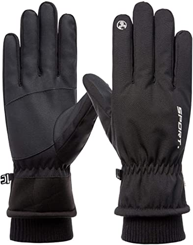 OPTIMISTIC Ski Gloves Touchscreen Windproof, Winter Gloves for Men,Water Resistant Gloves for Ski,Running,Motorcycle,Work in Snow Weather