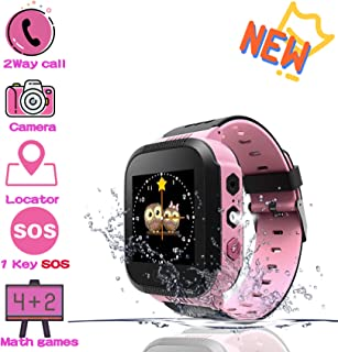Benobby 2019 New Kids Smartwatches, for Boys and Girls from 3-12 Years Old, Daily Use Waterproof/GPS+LBS Positioning/Two-Way Communication/SOS Warning/Math Games/Alarm, Best Gift for Kids(Pink)