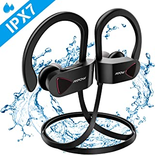 Mpow Auriculares Inalámbricos IPX7, Bluetooth 4.1 Auriculares Deportivos IPX7, A2DP Auricular Deporte Correr Manos