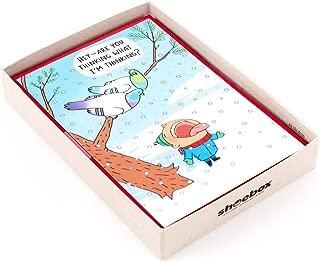 Hallmark Shoebox Funny Boxed Holiday Cards, Snowbirds (16 Cards and 17 Envelopes)