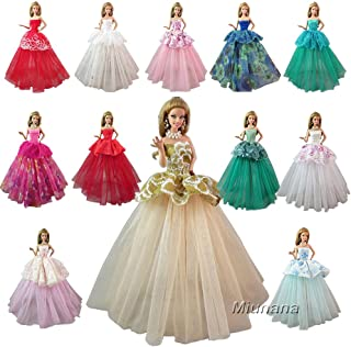Barwa Random Styles 7 Pcs Handmade Fashion Wedding Party Gown Dresses & Clothes for 11.5 Inch Girl Doll 2020