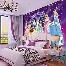 WWMJBH Papel Pintado Autoadhesivo (W) 250X (H) 175Cm3D Pink Girl Heart Cute Princess Wallpaper Mural Wall Poster 3D Mural Photo Niños Niño Niña Dormitorio Arte De La Pared Sala De Estar Tv Fondo Pa