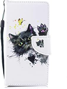 Sony Xperia XA1 Wallet Case  The Grafu  Multifunctional Magnetic Folio Leather Flip Case Cover with Card Slots and Wrist Strap for Sony Xperia XA1  Cat