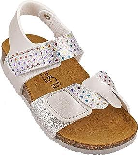 012-343 Biochic Girls Sandals Metallic Silver