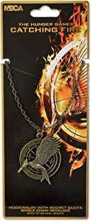 """The Hunger Games: Catching Fire """"Mockingjay with Secret Quote"""" V2 Necklace"""