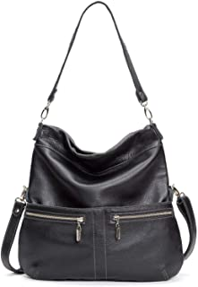 product image for Black Italian Leather Large Convertible Foldover Crossbody