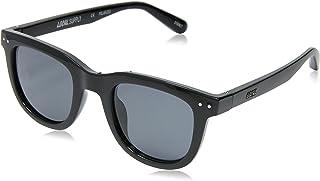 Local Supply Men's ISLAND Polarized Sunglasses - Dark Grey Tint Lens, Gloss Black Frames