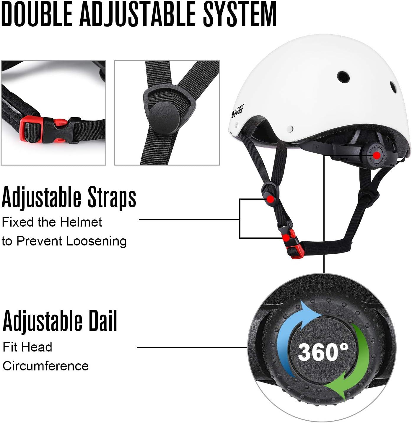 G4Free Kids Adults Skateboard Bike Helmet for Women Men Durable Impact Resistance Multi Sports Roller Skate Cycling Scootes Helmet