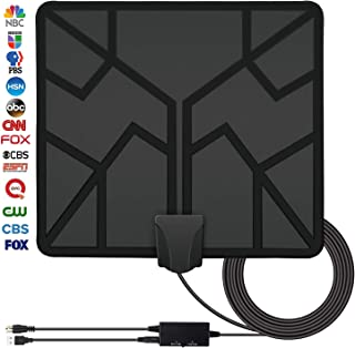 2019 Newest 50 Miles Range HDTV Antenna, TV Antenna Indoor Amplified Digital HD Antenna Free Channels with 4K 1080P High Definition Antenna Signal Booster, Long Coax Cable - High Reception
