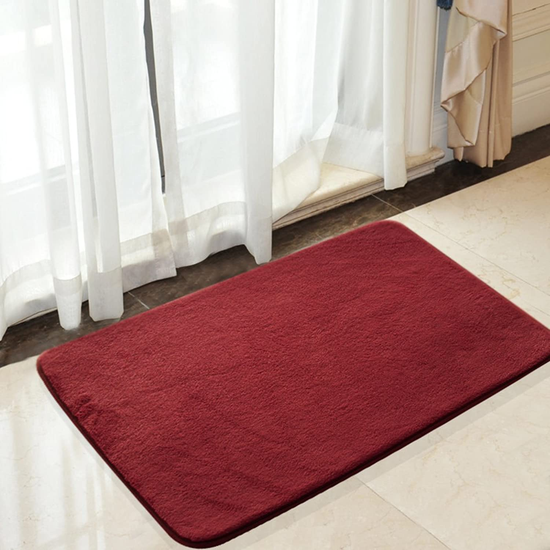 Floor mat Bedroom kitchen bathroom floor mat bathroom water-absorption Anti-slip door mats -E 80x160cm(31x63inch)