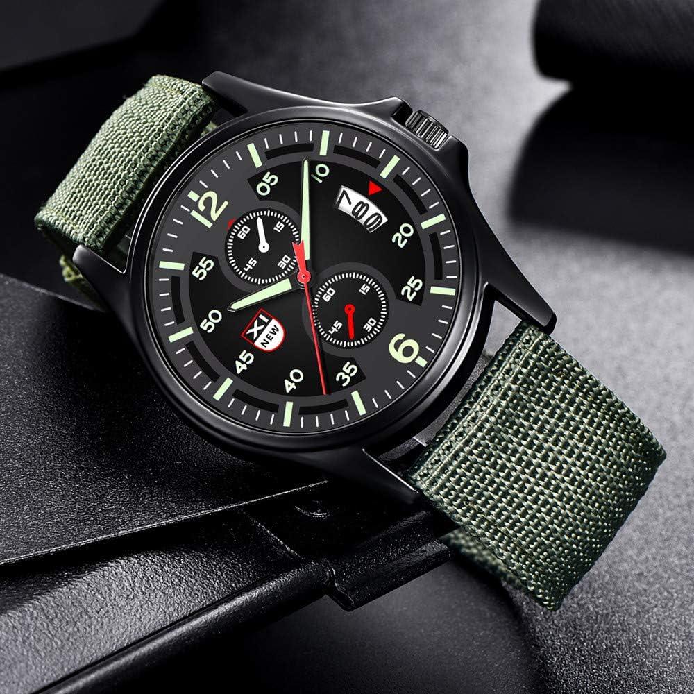 Charberry 2019 Military Nylon Waterproof Date Quartz Analog Army Mens Quartz Wrist Watches
