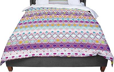 KESS InHouse Nandita Singh Marsala /& Mustard Red Pattern Twin Comforter 68 X 88