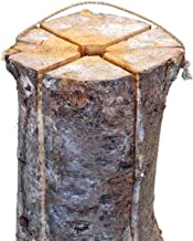 XXL Premium boomfakkel I 450 mm hoogte I incl. aanmaakblokje I gewicht ca. 5 kg I vuurfakkel I Zweeds vuur I tuinfakkel I ...