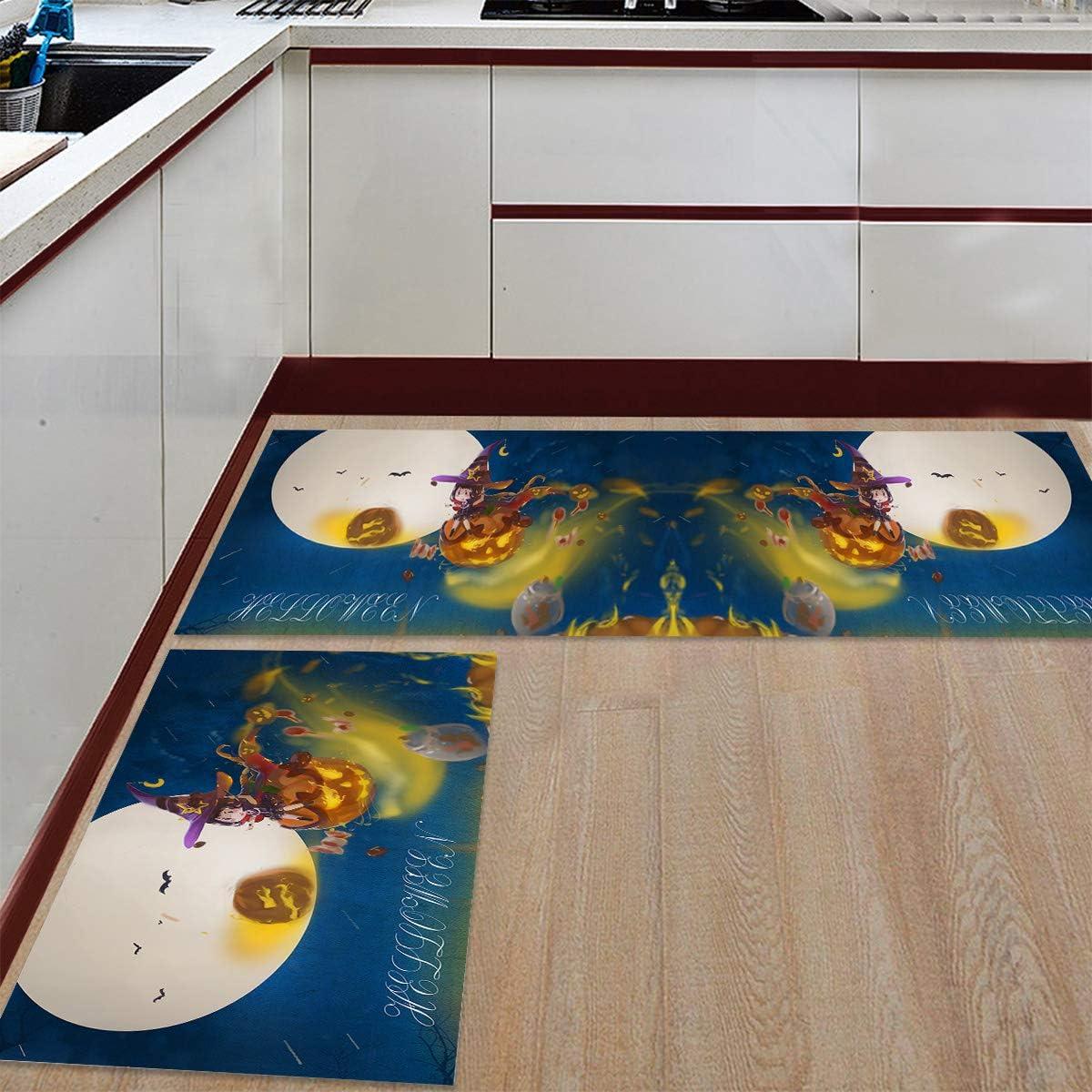 Womenfocus Excellence Kitchen Mat Excellence Set Anti-WearNon-Slip Floor Rug Pi 2