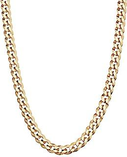 MiaBella Solid 18K Gold Over Sterling Silver Silver ، گردنبند زنجیره ای زنجیر پیوندی الماس 5 میلی متر برش الماس برای زنان ، 16 ، 18 ، 20 ، 22 ، 24 ، 26 ، 30 اینچ 925 استرلینگ نقره استرلینگ در ایتالیا