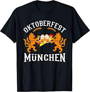 Oktoberfest München Germany German Flag Beer Drinking Gift T-Shirt