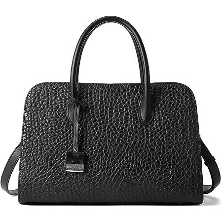 BOSTANTEN Damen Leder Handtasche Frauen Henkeltasche Schultertasche Umhängetasche Elegante Tote Bag Schwarz