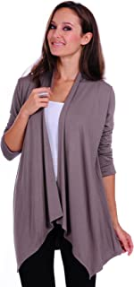 SR Women's Basic Various Style Sleeve Open Cardigan (Size: Small-5X)