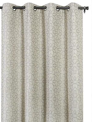 """Deco Window (Set of 2) Linen Curtains/Drapes Set 52""""X84""""Tile-Grey"""