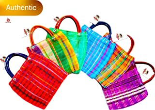 Alondra`s Imports New (TM) Uniquely Designed, Mini Mexican Tote Favor Bags (Mexican Candy Bags - Mexican Mercado Bags - Mexican Mesh Bags - Bolsas para Fiestas) 10 x 7 - Multi-Colored (24 Pack)