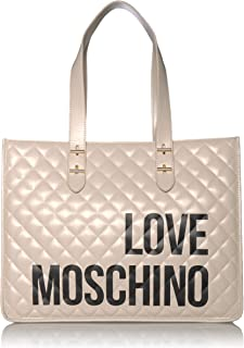 Love Moschino Borsa Quilted Nappa PU, Bolso tipo tote para Mujer, negro, 32x42x16 centimeters (W x H x L)