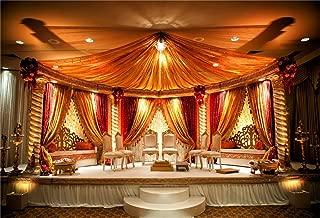 CSFOTO 10x7ft Background for Indian Wedding Mandap Photography Backdrop Luxury Wedding Ceremony Banquet Room Interior Engagement Marriage Marquee Celebration Photo Studio Props Vinyl Wallpaper