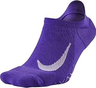 NikeElite Cushioned No Show Running Socks Size 4-5.5 (Men), 5.5-7 (Women) Grape Sx5462-560