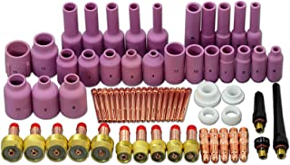 TIG Gas Lens Back Cap Collet Body Assorted Size Kit Fit QQ300 PTA DB SR WP 17 18 26 TIG Welding Torch 67pcs